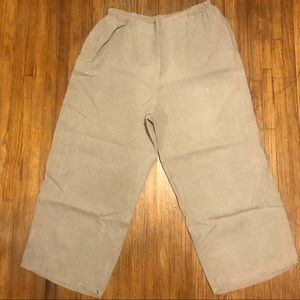 [Flax] 100% Linen Pull On Cruise Pant